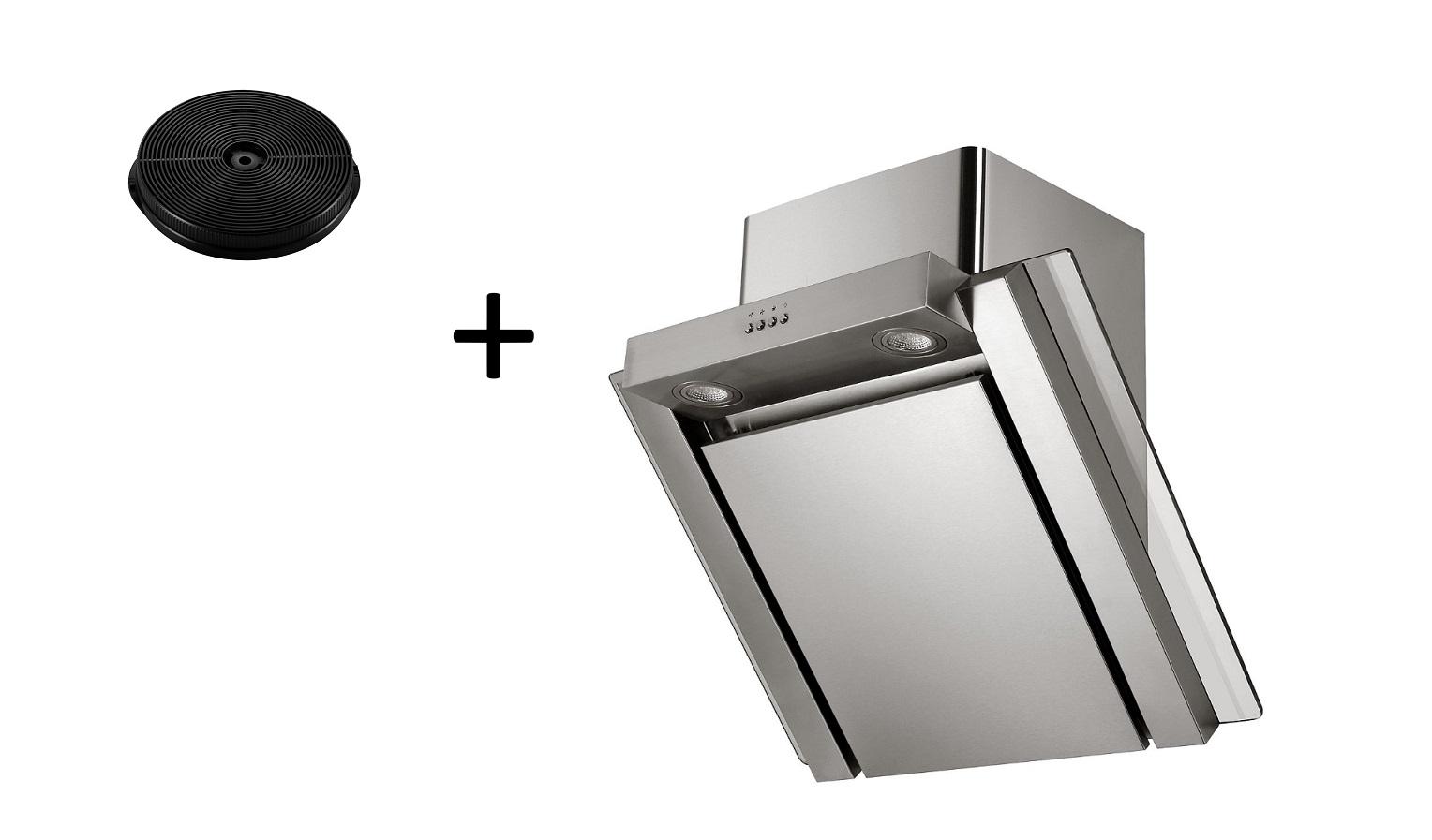 Dunstabzugshaube Schräghaube Wandhaube kopffrei 60cm + Filter Umluftset respekta