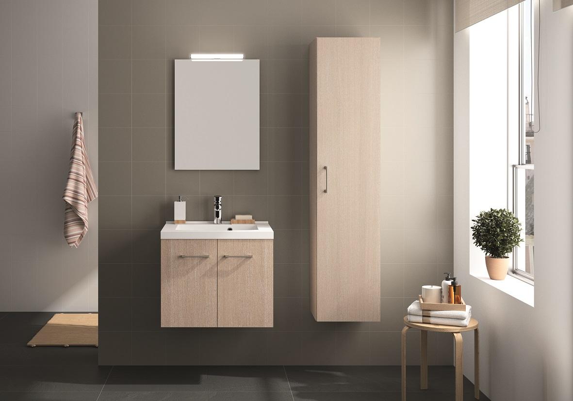 ALLIBERT Badmöbel Badmöbel-Set Badezimmermöbel Waschtisch Molina Esche 95 cm