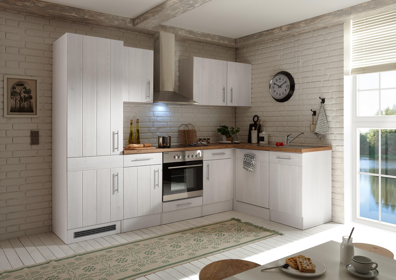 Winkelküche Landhaus Küchenzeile Einbauküche L-Form Küche 280 x 172 cm respekta