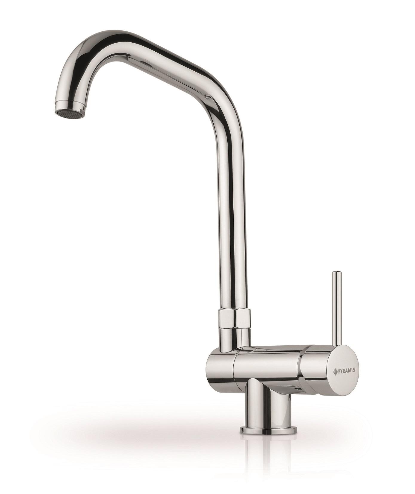 Küchenarmatur Armatur Wasserhahn Hochdruckaramtur Chrom Auslauf umlegbar Pyramis
