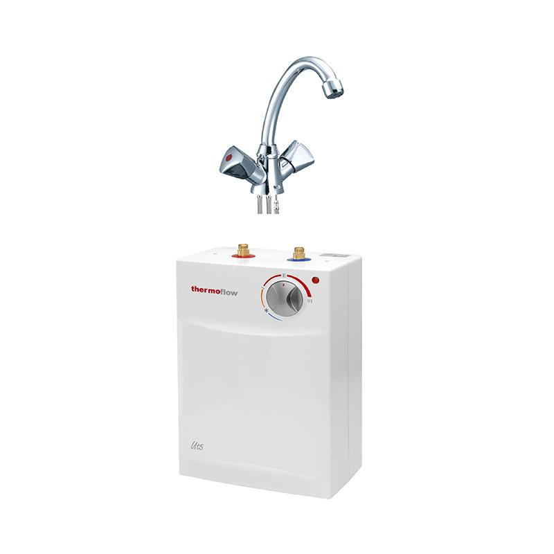 thermoflow Untertischgerät Untertisch Boiler 5 l Warmwassergerät + Armatur 2 KW