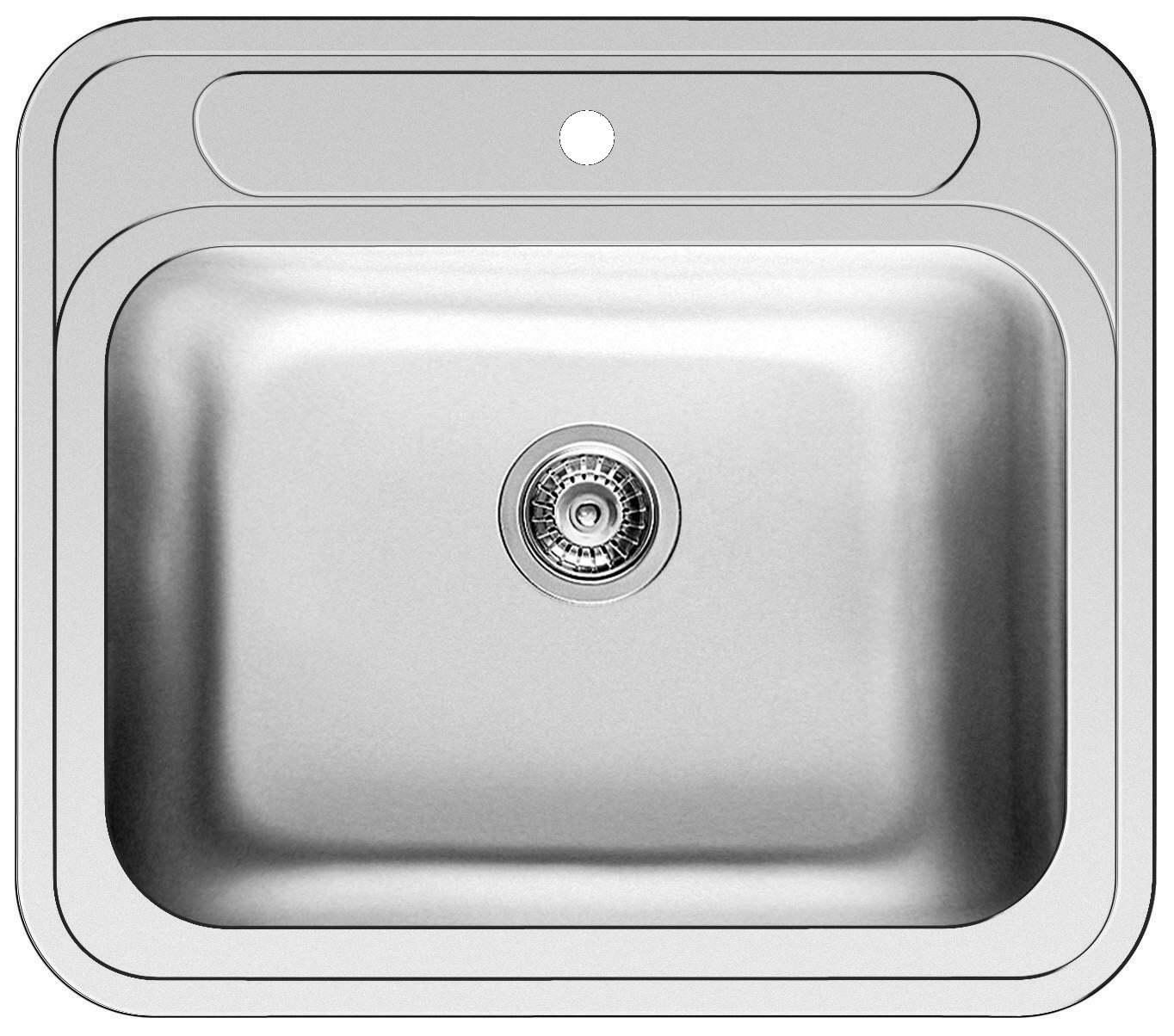 Pyramis ATRIA Einbauspüle Becken Edelstahl-Spüle poliert 575 x 505 mm