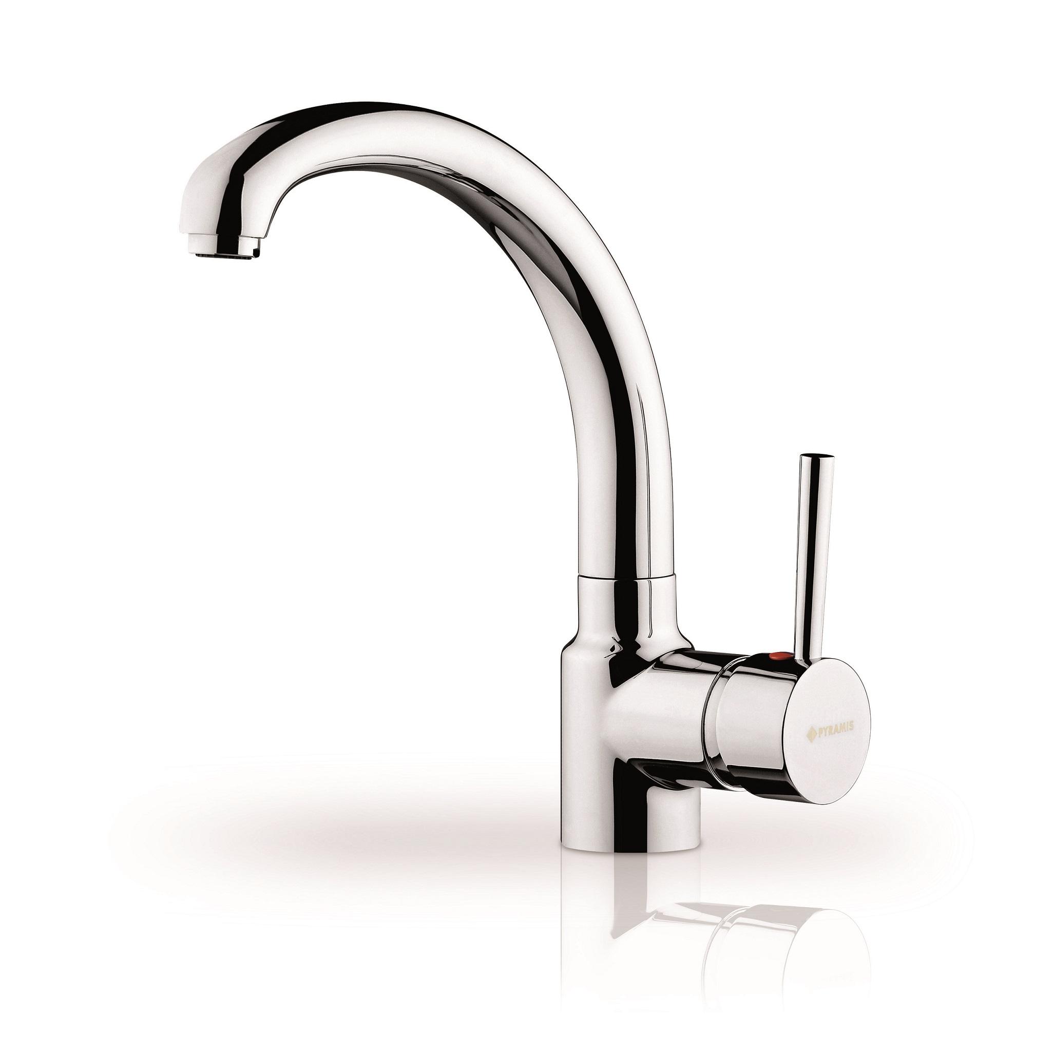 Hochdruckarmatur Wasserhahn Armatur Küchenarmatur Auslauf schwenkbar Pyramis