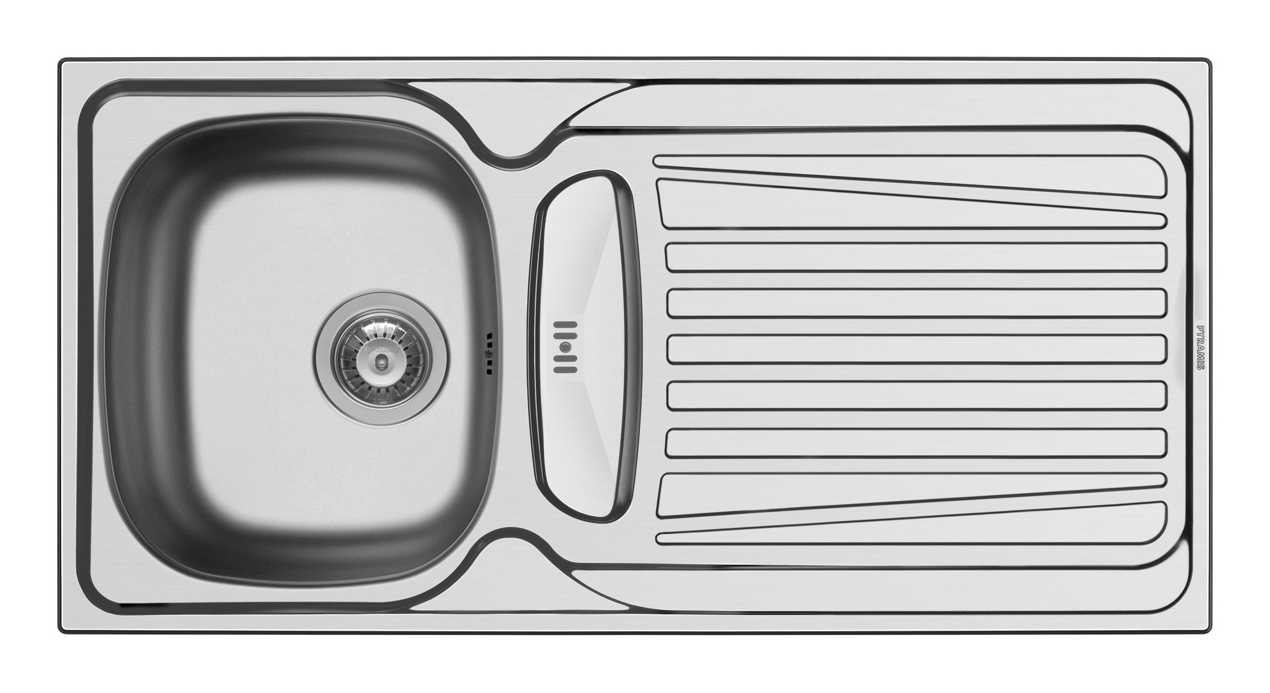 Küchenspüle Spüle Einbauspüle Edelstahlspüle Spülbecken Edelstahl 100x50 Pyramis