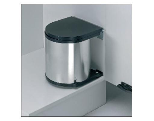 Wesco 11 Liter Rund-Abfallsammler für Schränke (ab 40er) mit Drehtüren Edelstahl