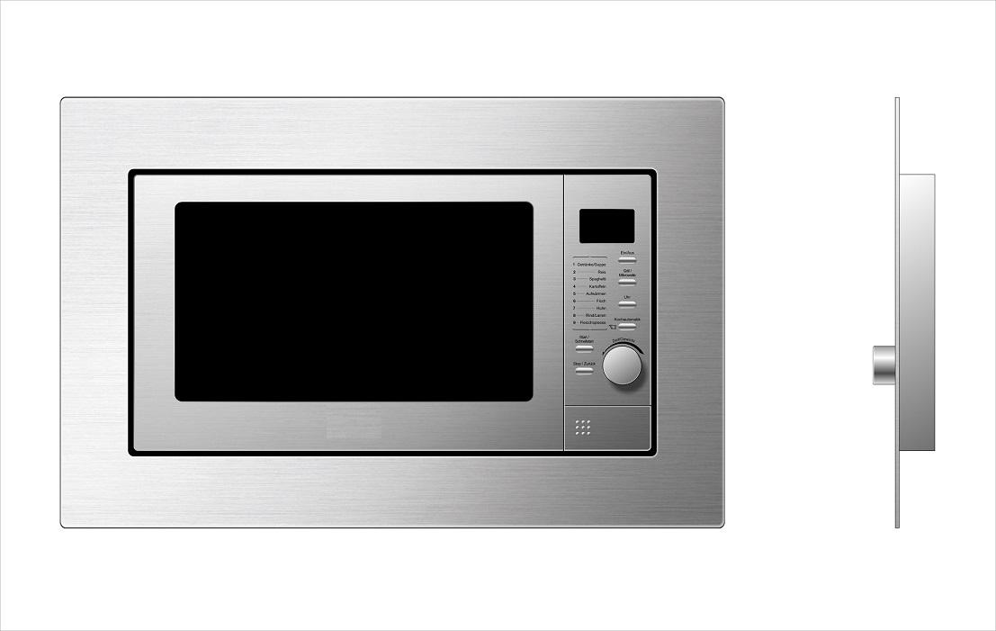 respekta Mikrowelle Einbau Microwelle Grill Edelstahl 800 Watt 8 Programme 20 L