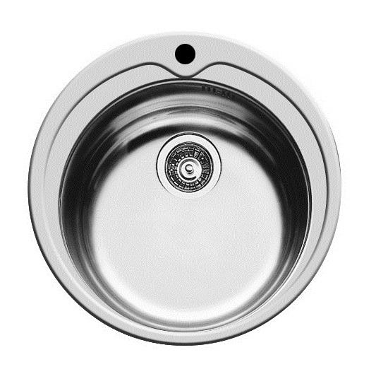 Pyramis KIBA Einbauspüle Becken Edelstahl-Spüle glatt Ø485 mm