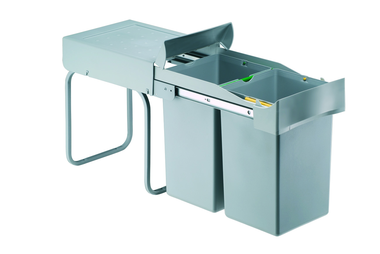 Abfallsammler Mülleimer 2-fach Mülltrennsystem Abfalleimer 30 cm Schrankbreite