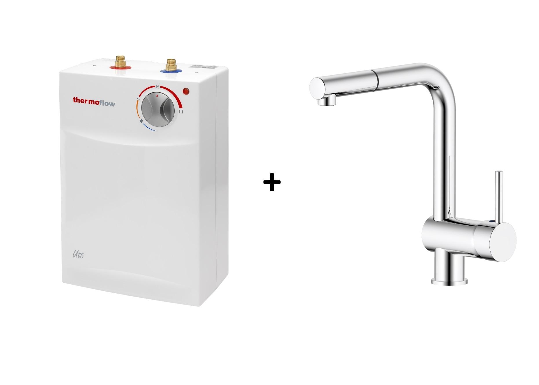 Thermoflow Untertischgerät 5l Untertisch Boiler Warmwasserspeicher + Armatur 2KW