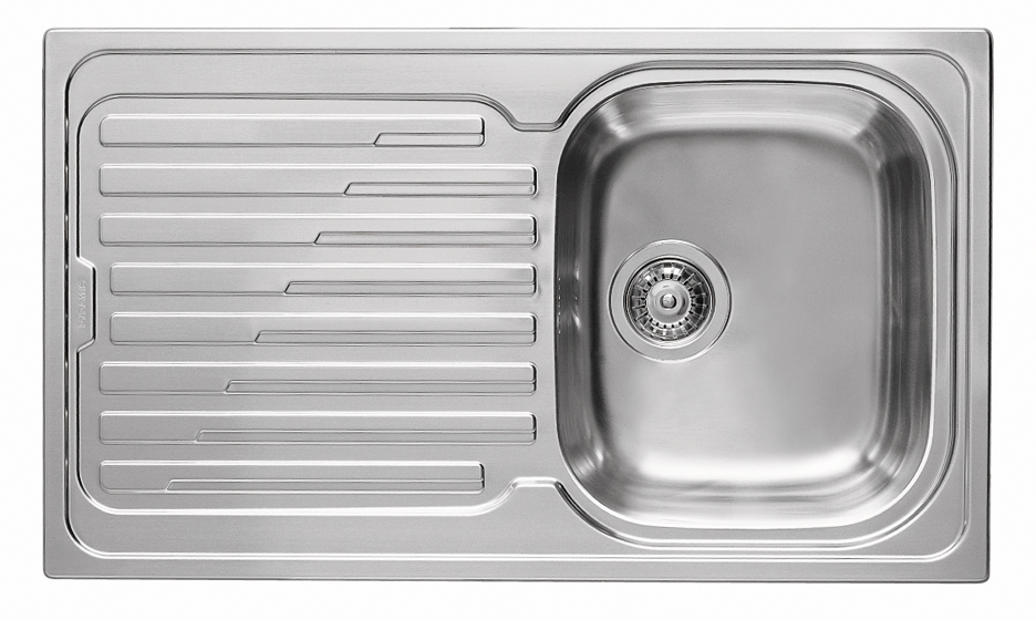 Küchenspüle Spüle Einbauspüle Edelstahlspüle Spülbecken Edelstahl 86x50 Pyramis