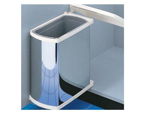 Hailo Uno 18 Liter Abfallbehälter für Drehtürenschränke Edelstahl weiß ab 45er