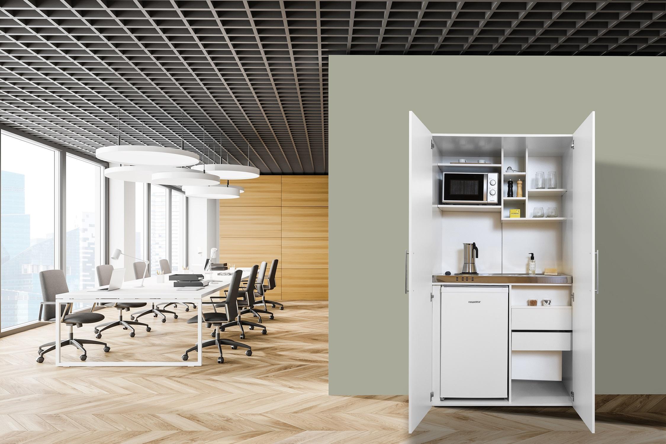 respekta Schrankküche Küche Miniküche Küchenzeile Singleküche Küchenblock weiß