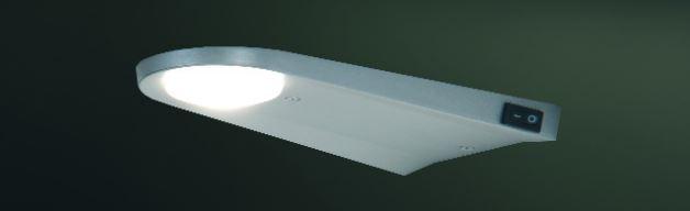 Arrow LED Unterschrank-Leuchte starkes Leuchtmittel gerundet Edelstahl 3er Set