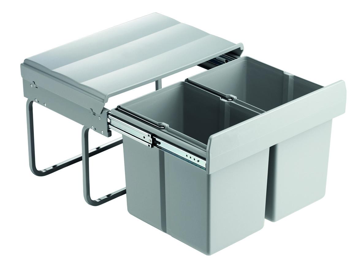 Abfallsammler Mülleimer 2-fach Mülltrennsystem Abfalleimer 50 cm Schrankbreite