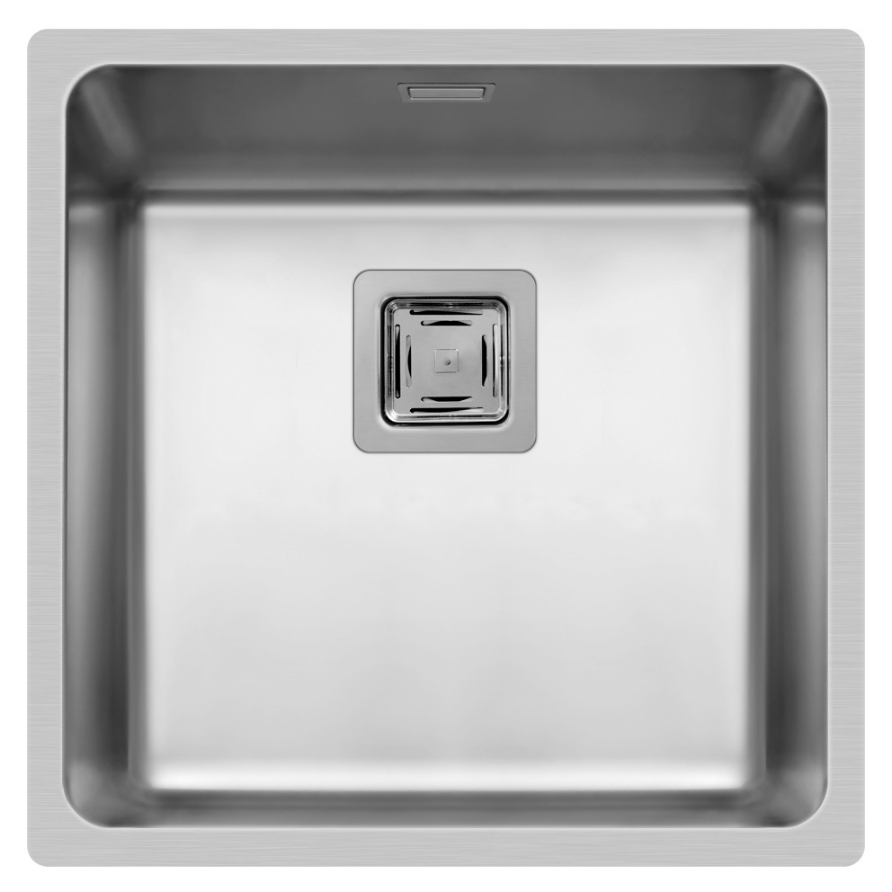 Spüle Edelstahlspüle Einbauspüle Küchenspüle Spülbecken Edelstahl 40x40 Pyramis