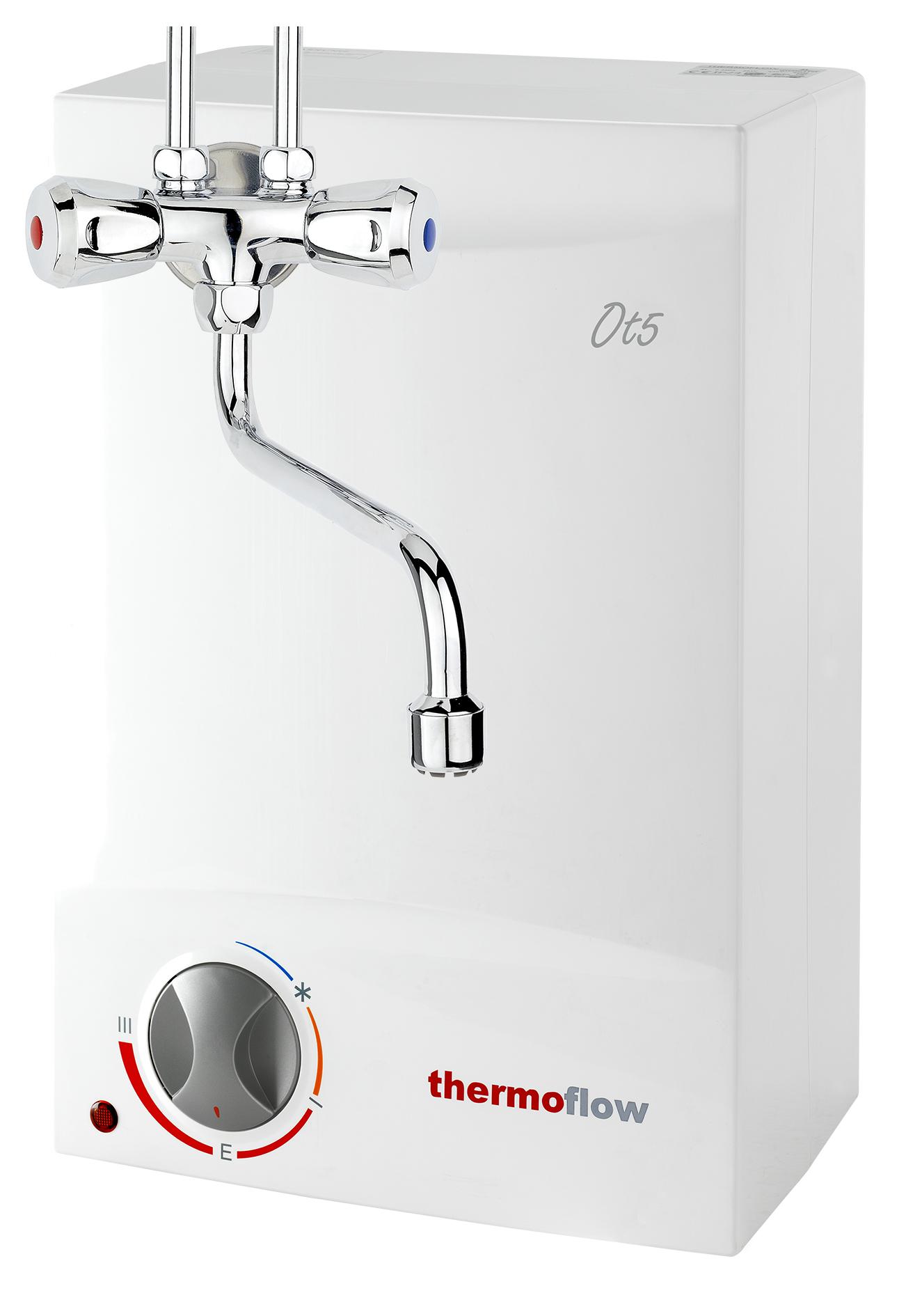 Thermoflow Obertischboiler Warmwasserspeicher 5 L Übertisch Boiler + Armatur