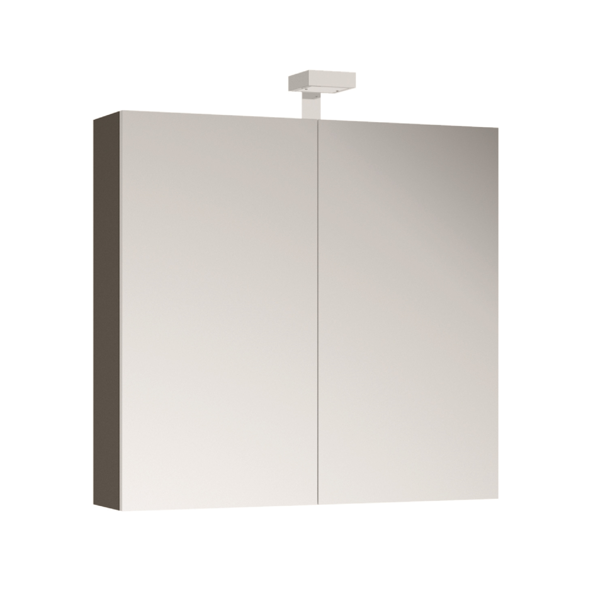 ALLIBERT Spiegelschrank Spiegel Badmöbel vormontiert grau Glanz 80 cm LED