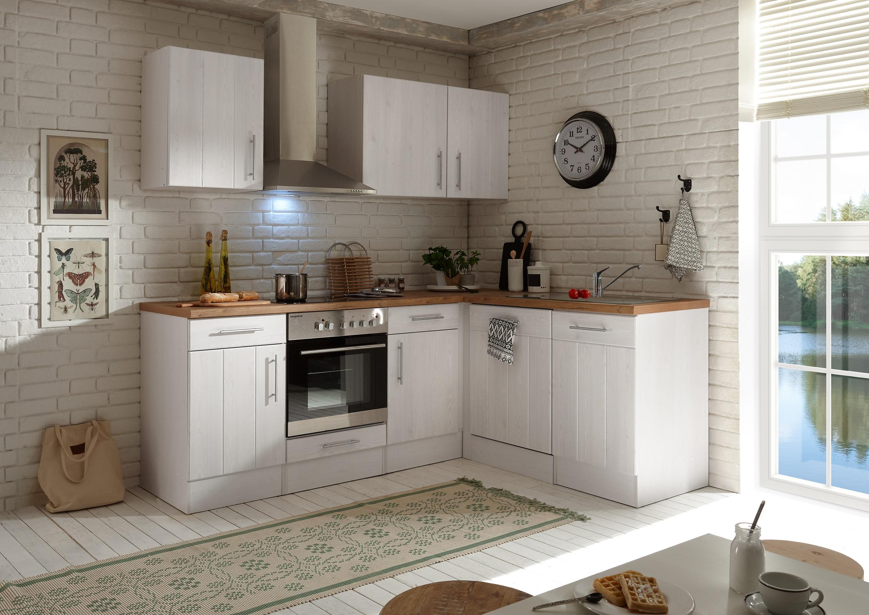 Winkelküche Landhaus Küchenzeile Einbauküche L-Form Küche 220 x 172 cm respekta
