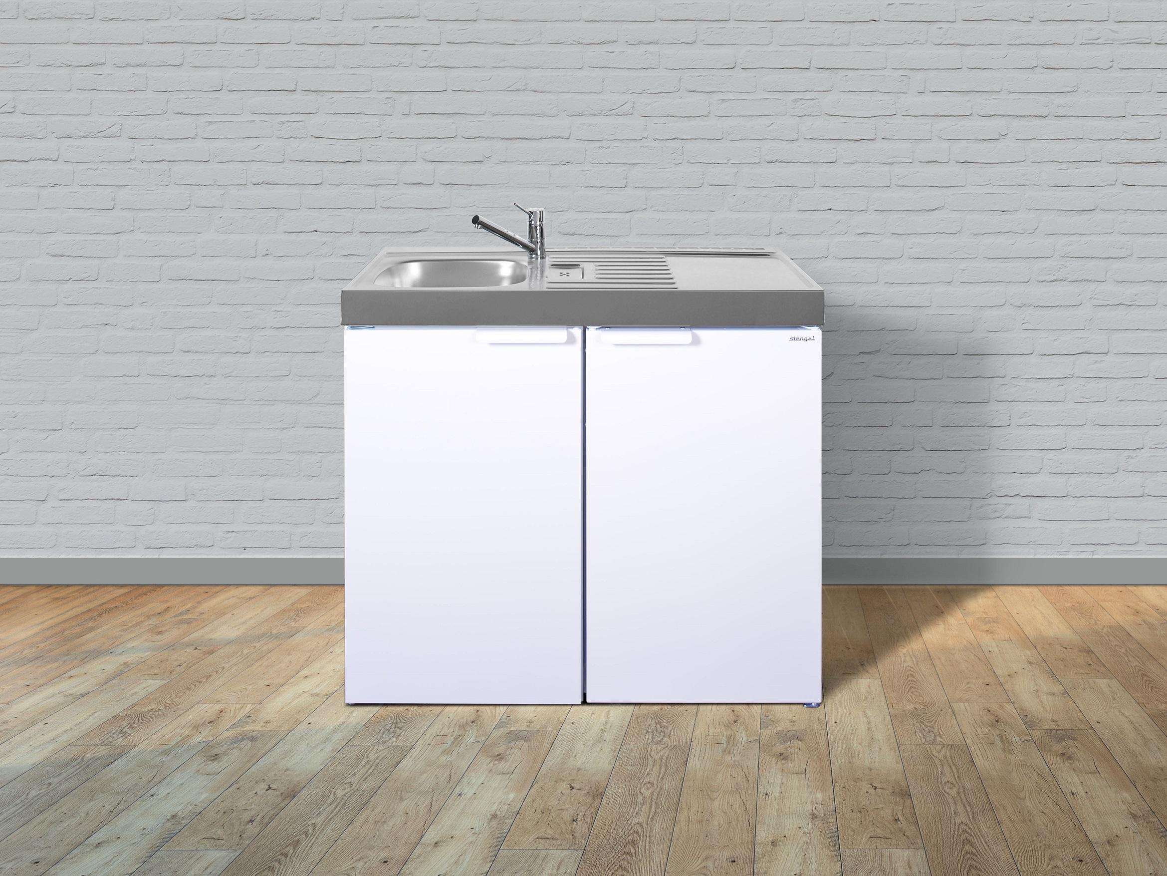Küche Miniküche Küchenzeile Küchenblock Metall Singleküche Stengel 100 cm Sand