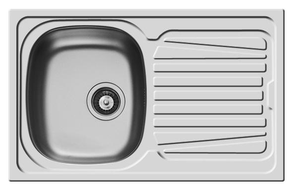 Küchenspüle Spüle Einbauspüle Edelstahlspüle Spülbecken Edelstahl 79x50 Pyramis